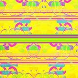 Geometrisk abstrakt begrepp för neon Arkivbild