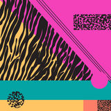 Geometrisk abstrakt färgrik modern bakgrund Royaltyfri Bild