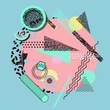 Geometrisk abstrakt färgrik modern bakgrund Royaltyfri Foto