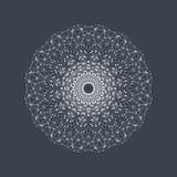 Geometrisk abstrakt form med förbindelselinjen och prickar Grafisk bakgrund för din design också vektor för coreldrawillustration Arkivfoton