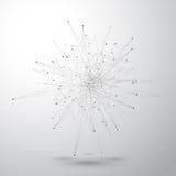Geometrisk abstrakt form med förbindelselinjer och prickar också vektor för coreldrawillustration Fotografering för Bildbyråer