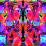 Geometrisk abstrakt livlig neonbakgrundsdesign Royaltyfri Foto