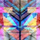 Geometrisk abstrakt ljus bakgrund Arkivfoto