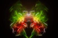Geometrisk abstrakt mångfärgad modell för bakgrundslaser-ljus Arkivbilder