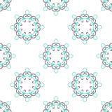 Geometrisk abstrakt modell för sömlös vektor Arkivbild