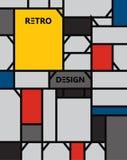 Geometrisk abstrakt modellde stijl konst Arkivfoto