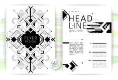 Geometrisk abstrakt reklamblad Arkivbild