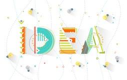 Geometrisk abstrakt reklamblad Arkivfoto