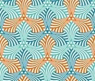 Geometrisk abstrakt sömlös modellmotivbakgrund Arkivbild