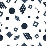 Geometrisk abstrakt sömlös prydnadmodell vektor illustrationer