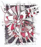 geometrisk abstrakt teckning Royaltyfri Bild