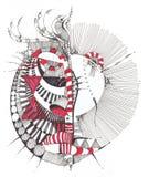 geometrisk abstrakt teckning Arkivbild