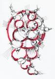 geometrisk abstrakt teckning Arkivfoto