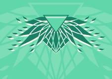 Geometrisk abstraktionbakgrund logo Fotografering för Bildbyråer