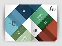 Geometrisk affärsmall för broschyr a4 Arkivbild