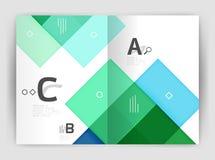 Geometrisk affärsmall för broschyr a4 Arkivfoto
