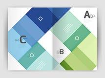 Geometrisk affärsmall för broschyr a4 Fotografering för Bildbyråer