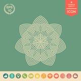 Geometrisk arabisk modell logo ditt designelement Royaltyfri Fotografi
