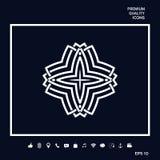Geometrisk arabisk modell Logo för din design Royaltyfri Foto