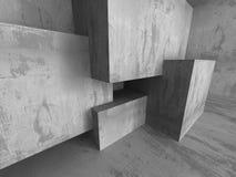 Geometrisk arkitekturbakgrund Tom inte för mörkerbetongrum Royaltyfri Fotografi