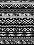 Geometrisk aztec svartvit sömlös modell, vektor Royaltyfri Bild