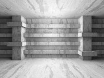 Geometrisk backgroun för abstrakt konkret arkitekturkällarerum Arkivbilder