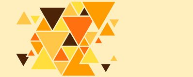Geometrisk bakgrund av trianglar, ljusa kulöra former som skapar en abstrakt bild vektor illustrationer