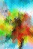 Geometrisk bakgrund för abstrakt färgrastertriangel Arkivbild