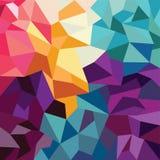 Geometrisk bakgrund för abstrakt färgrik triangel Royaltyfri Bild