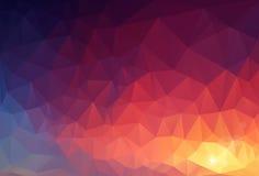 Geometrisk bakgrund för abstrakt triangel Arkivfoto