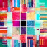 Geometrisk bakgrund för abstrakt vattenfärg Royaltyfri Bild