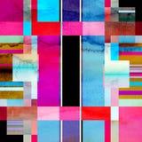 Geometrisk bakgrund för abstrakt vattenfärg Royaltyfria Bilder