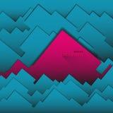 Geometrisk bakgrund för abstrakt vektor från fyrkanter och rektanglar Arkivbild