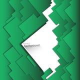 Geometrisk bakgrund för abstrakt vektor från gröna och vita fyrkanter Royaltyfri Fotografi