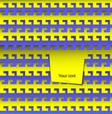 Geometrisk bakgrund för abstrakt vektor i form av krokar Arkivbild