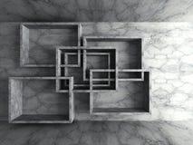 Geometrisk bakgrund för arkitekturbetongväggdesign royaltyfri illustrationer