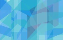 Geometrisk bakgrund för blått och för turkos Royaltyfri Foto