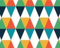Geometrisk bakgrund för färgbakgrundshipster med en kulör diamant stock illustrationer