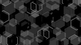 Geometrisk bakgrund för grå färger och för svart Arkivbild