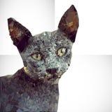 Geometrisk bakgrund för katt Arkivbilder