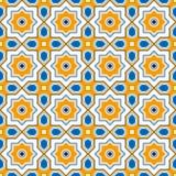 Geometrisk bakgrund för orientalisk stilfärg Östlig georgisk tegelplatta Royaltyfri Fotografi