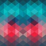 Geometrisk bakgrund för spektrum som göras av trianglar Retro hipster c Arkivfoto