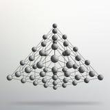 Geometrisk bakgrund för triangel Abstrakt kaotisk pyramid 3d Vektorillustration EPS10 Arkivbilder