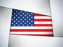 Geometrisk bakgrund för USA landsflagga Royaltyfria Bilder