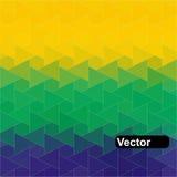 Geometrisk bakgrund för vektor i den Brasilien flaggan Fotografering för Bildbyråer