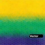 Geometrisk bakgrund för vektor i den Brasilien flaggan Arkivbilder