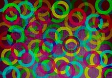 Geometrisk bakgrund med cirklar Royaltyfria Foton