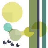 Geometrisk bakgrund med cirklar och band Arkivfoton