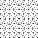 Geometrisk bakgrund med pilprydnaden Tryckdesign i etnisk stil Sömlös vektormodell för stam- pilar Arkivfoton
