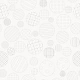 Geometrisk bakgrund med prickiga och randiga cirklar Royaltyfria Foton